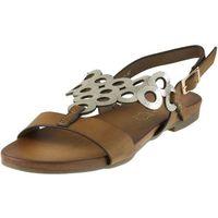 Sandały S.Barski 541-97 - Camel + Złoto, kolor brązowy
