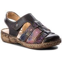 Sandały COMFORTABEL - 720109 Schwarz/Bunt 1, kolor czarny
