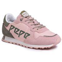 Sneakersy - verona w logo pls30984 washed rose 313 marki Pepe jeans