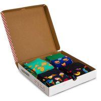 Zestaw 4 par wysokich skarpet unisex - xfod09-0100 kolorowy, Happy socks