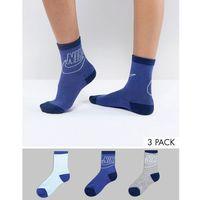 Nike 3 Pack Ankle Socks - Multi