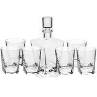 KROSNO HANDMADE MODERN CARO Komplet do whisky karafka + szklanki 7el
