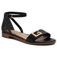 Sandały GUESS - Rashida FL6AIA LEA03 BLACK, kolor czarny