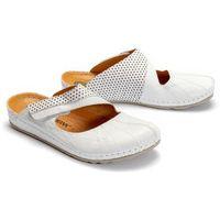 DR. BRINKMANN 701103-3 weiss, klapki profilaktyczne damskie - Biały, kolor biały