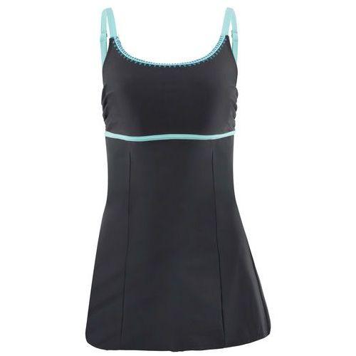 Bonprix Sukienka kąpielowa wyszczuplająca czarny