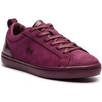 Sneakersy LACOSTE - Straightset 318 1 Caw 7-36CAW0037BB2 Burg/Burg, kolor czerwony
