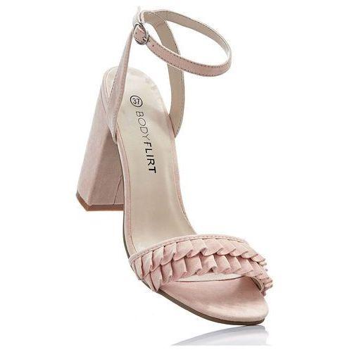 Bonprix Sandały z falbanami jasnoróżowy