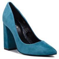 Półbuty WOJAS - 7381-67 Niebieski, kolor niebieski