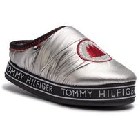 Kapcie - downslipper patch fw0fw04182 silver 000, Tommy hilfiger