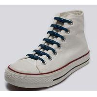 silikonowe sznurowadła do butów navy blue marki Shoeps
