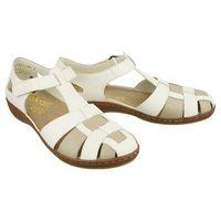 Rieker 45869-80 white combination, sandały damskie