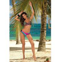 Kostium kąpielowy model margaret nero-baia-rosa shocking m-377 black/sky blue/pink, Marko