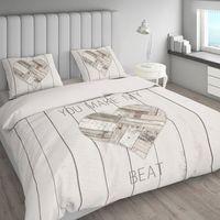 Room99 Pościel nightlife cosy bedroom cream 220x200+2 poszewki 60x70 rom968 - odbiór w 2000 punktach - salony, paczkomaty, stacje orlen