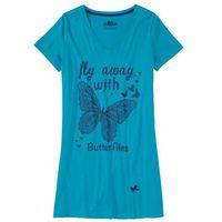 Koszula nocna ciemnoturkusowy z nadrukiem marki Bonprix