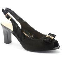 Sandały Sergio Leone 23051 czarny, kolor czarny