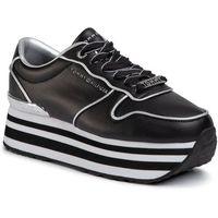 Sneakersy TOMMY HILFIGER - Mettalic Flatform Sneaker FW0FW04699 Black BDS