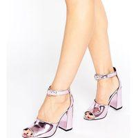 Office Stella Pink Mirror Flare Heeled Sandals - Pink