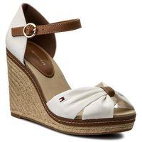 Tommy hilfiger Espadryle - iconic elena sandal fw0fw00905 whisper white 121