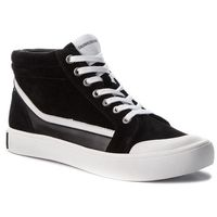 Sneakersy jeans - doris r0797 black/white/black, Calvin klein, 35-41