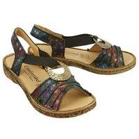 Comfortabel 710890-1 schwarz/floral, sandały damskie