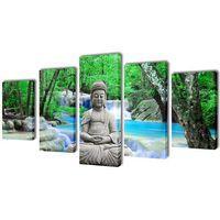 vidaXL Zestaw obrazów Canvas 100 x 50 cm Budda (8718475903369)