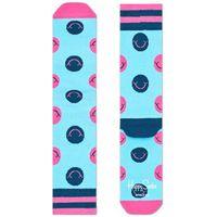 Happy socks smile skarpetki niebieski różowy 36-40