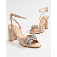 Aldo embellished blush heeled sandals - pink