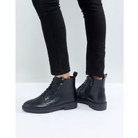 miley black zip detail flat ankle boots - black marki Raid