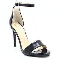 TYMOTEO 2613 CZARNE - Eleganckie sandały, skóra - Czarny, kolor czarny