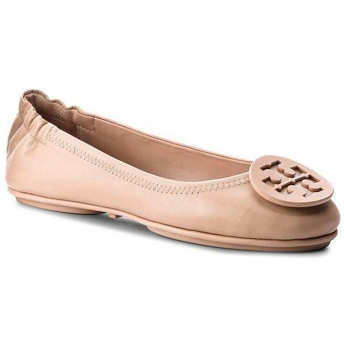 Baleriny TORY BURCH - Minnie Travel Ballet With Logo 51158251 Goan Sand 927, kolor beżowy