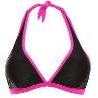 Biustonosz bikini z ramiączkami wiązanymi na szyi bonprix czarno-różowy, góra