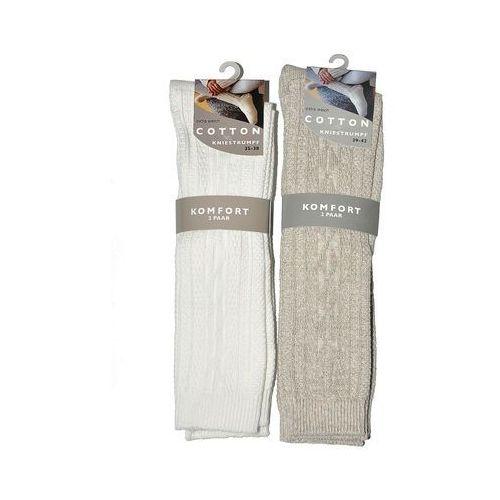 Wik Podkolanówki cotton art.41292 a'2 rozmiar: 43-46, kolor: kremowy, wik