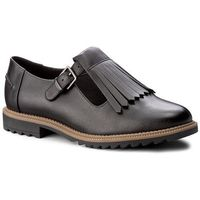 Półbuty - griffin mia 261156344 black leather marki Clarks