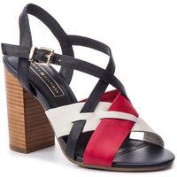 Sandały - interwoven pattern heeled sandal fw0fw04053 rwb 020, Tommy hilfiger, 36-41