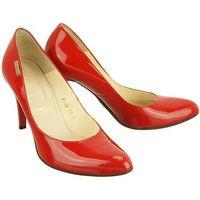 EMBIS 1221 czerwony lakier, czółenka damskie - Czerwony