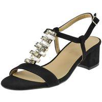 Sandały Sagan 2885 - Czarne wel+kamień