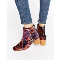Hudson london garnett liberty velvet mid ankle boots - multi