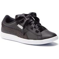 Puma Sneakersy - vikky ribbon l satin jr 369542 04 puma black/puma silver/white