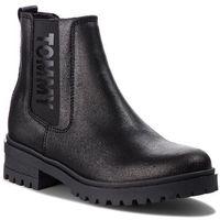 Sztyblety - metallic cleated che en0en00341 black 990 marki Tommy jeans