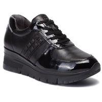 Sneakersy - 1-23720-33 blk leath./pat 074, Tamaris, 36-41