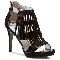 Sandały R.POLAŃSKI - 0782 Czarny Lakier/Czarny Zamsz, kolor czarny