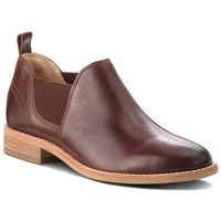 Clarks Półbuty - edenvale page 261362764 dark tan leather