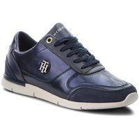 Tommy hilfiger Sneakersy - camo metallic light sneaker fw0fw03231 tommy navy 406