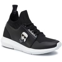Sneakersy - kl61126 black knit textile, Karl lagerfeld, 35-40