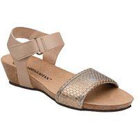 Sandały buty Dr Brinkmann 710784-8 Beżowe - Beżowy ||Brązowy ||Złoty ||Multikolor