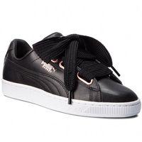 Sneakersy PUMA - Basket Heart Leather 367817 02 Puma Black/Rose Gold, w 9 rozmiarach