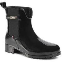 Kalosze TOMMY HILFIGER - Block Branding Rainboot FW0FW05202 Black BDS, 36-41