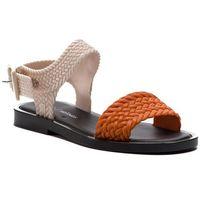 Sandały - mar sandal + salinas a 32482 orange/black 53235, Melissa, 35.5-41.5