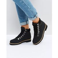 Asos adriana hiker ankle boots - black