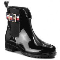 Kalosze - corporate belt rain fw0fw03329 black 990, Tommy hilfiger, 36-42